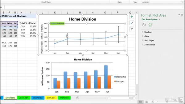Adding error bars: Excel 2016: Charts in Depth