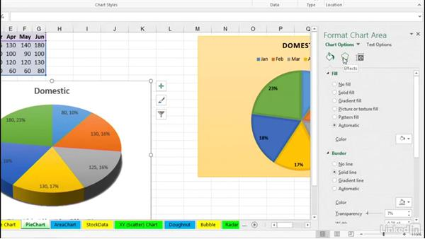 Customize pie charts: Excel 2016: Charts in Depth