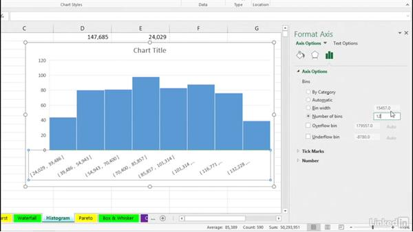 Histogram chart: Excel 2016: Charts in Depth