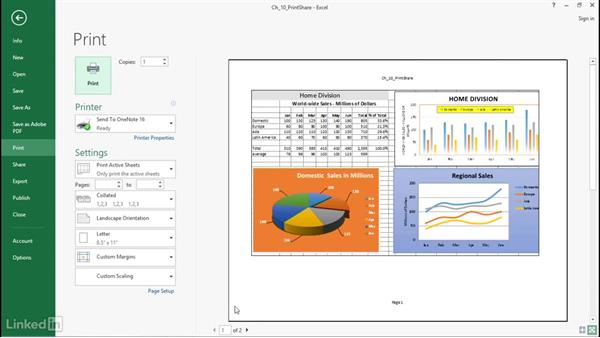 Print your charts: Excel 2016: Charts in Depth