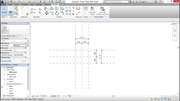 Constraining with dimensions: MEP Families in Revit