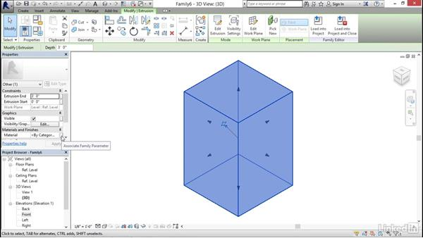 Creating extrusions: MEP Families in Revit