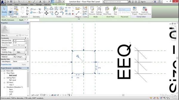 Creating a junction box: MEP Families in Revit