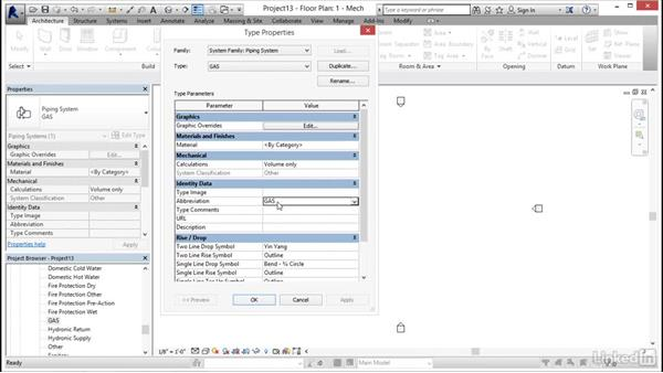 Creating a pipe system: MEP Families in Revit