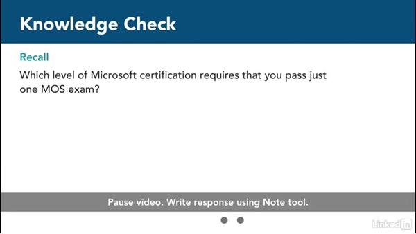 Knowledge check: Word 2013: Prepare for the Microsoft Office Specialist Certification Exam (77-418)