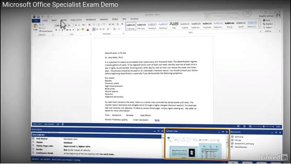 Overview of the 2013 MOS exam format and learning objectives: Word 2013: Prepare for the Microsoft Office Specialist Certification Exam (77-418)
