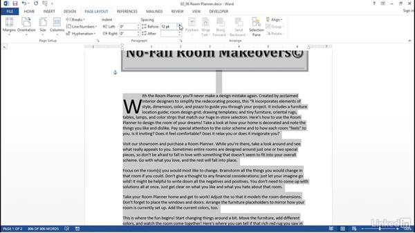 Advanced paragraph formatting: Word 2013: Prepare for the Microsoft Office Specialist Certification Exam (77-418)