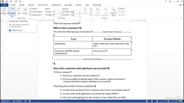 Section and page breaks: Word 2013: Prepare for the Microsoft Office Specialist Certification Exam (77-418)