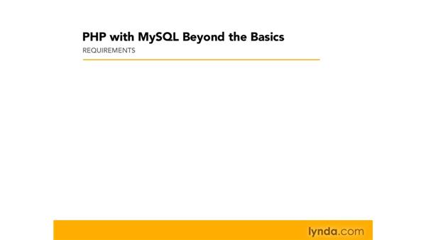 PHP and MySQL installation: PHP with MySQL Beyond the Basics
