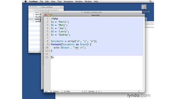 Using variable variables: PHP with MySQL Beyond the Basics
