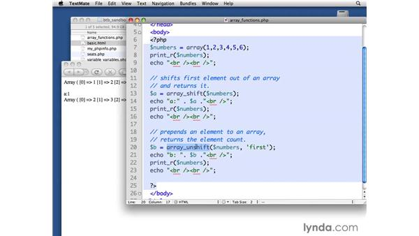 Applying more array functions: PHP with MySQL Beyond the Basics