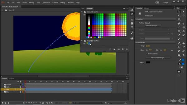 Using tagged swatches: Adobe Animate CC: First Look
