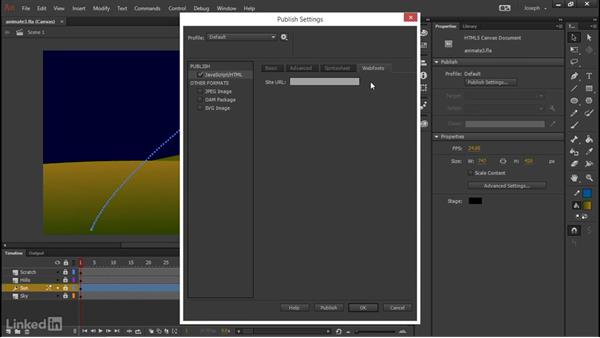 Improvements to publish options: Adobe Animate CC: First Look