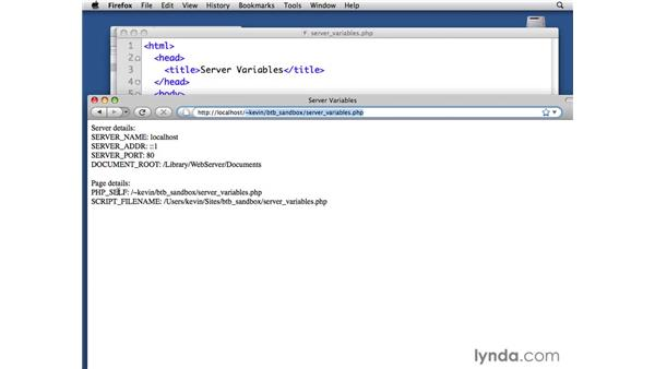 Setting server and request variables: PHP with MySQL Beyond the Basics