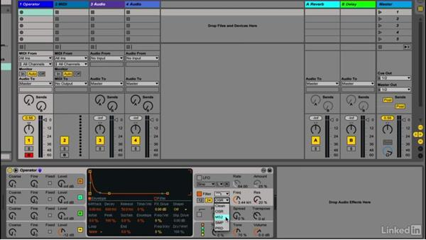 Using filters to sculpt the sound: Up and Running with Ableton Operator