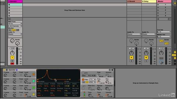 Using a filter envelope to shape the sound: Up and Running with Ableton Operator