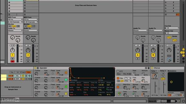 Creating a processed EP sound: Up and Running with Ableton Operator