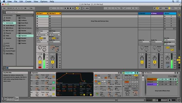 Creating an ambient FM pad sound: Up and Running with Ableton Operator