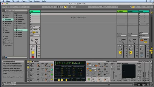 Creating a screaming lead sound: Up and Running with Ableton Operator