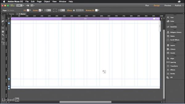 Setting up your master pages: Muse Essential Training (2015)
