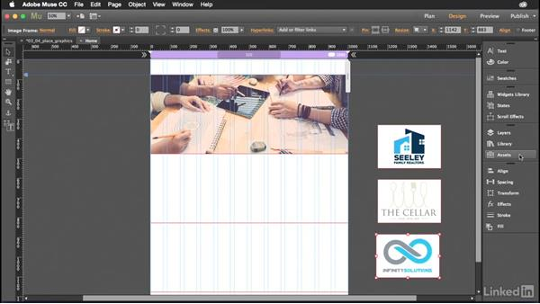 Placing graphics into your Muse website: Muse Essential Training (2015)