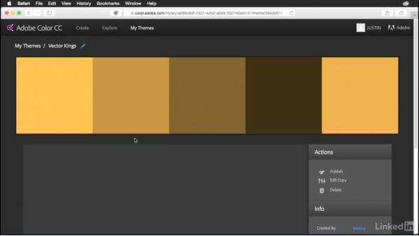 Creating your own color themes with Adobe Color: Muse Essential Training (2015)