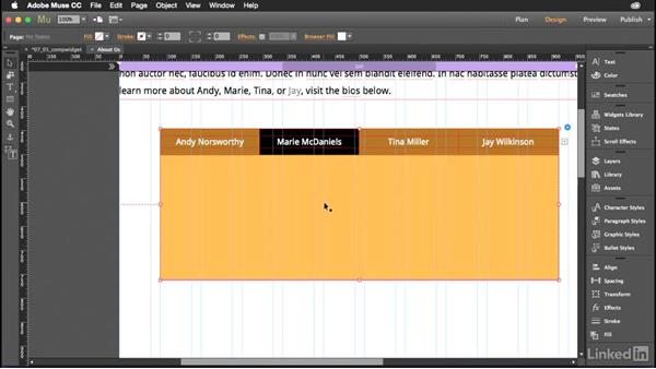 Working with panel widgets: Muse Essential Training (2015)