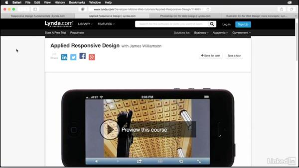 Useful resources on responsive design: Muse Essential Training (2015)