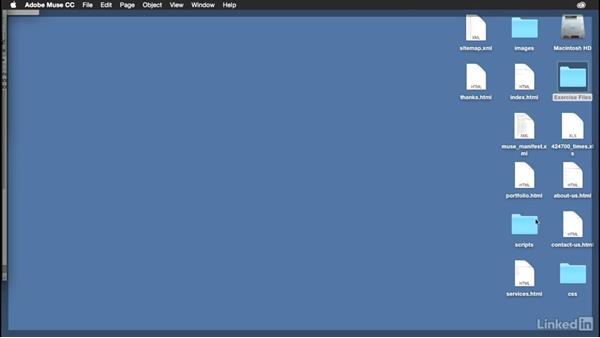 Exporting the HTML and CSS of your website: Muse Essential Training (2015)