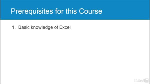 Prerequisites for this course: Excel 2016: Advanced Formatting Techniques