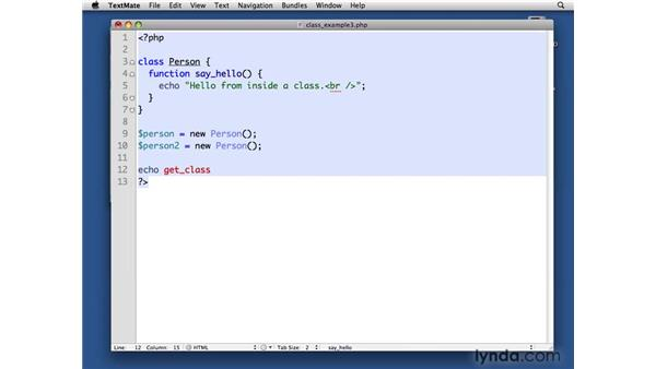 Instantiating a class: PHP with MySQL Beyond the Basics