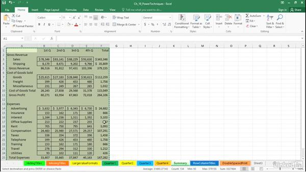 Create picture links: Excel 2016: Advanced Formatting Techniques