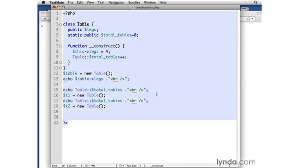 Using constructors and destructors: PHP with MySQL Beyond the Basics