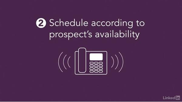 Your schedule: Sales Prospecting