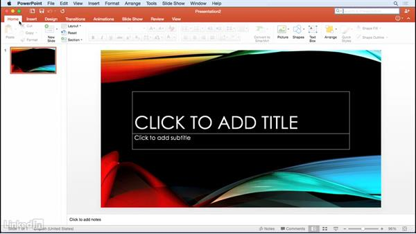 Touring the interface: Learn PowerPoint for Mac 2016: The Basics