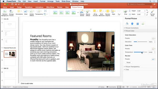 Inserting pictures: Learn PowerPoint for Mac 2016: The Basics