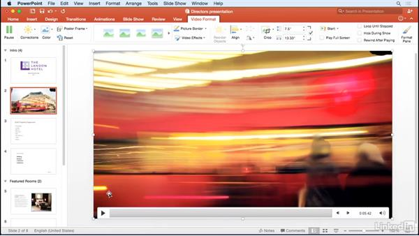 Adding video: Learn PowerPoint for Mac 2016: The Basics