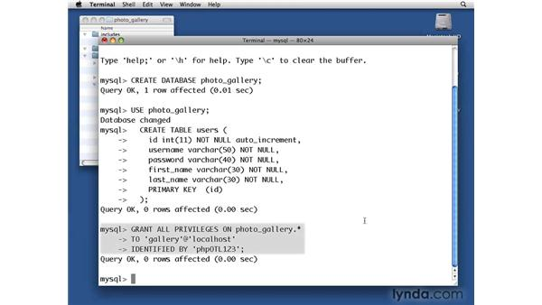Creating a MySQL database: PHP with MySQL Beyond the Basics