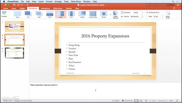 Using speaker notes: Learn PowerPoint for Mac 2016: The Basics