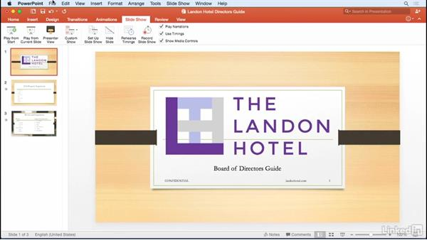 Printing slides and notes: Learn PowerPoint for Mac 2016: The Basics
