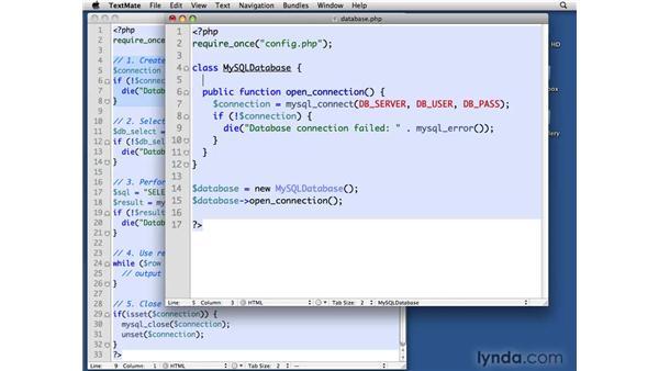 Creating the MySQL Database class: PHP with MySQL Beyond the Basics
