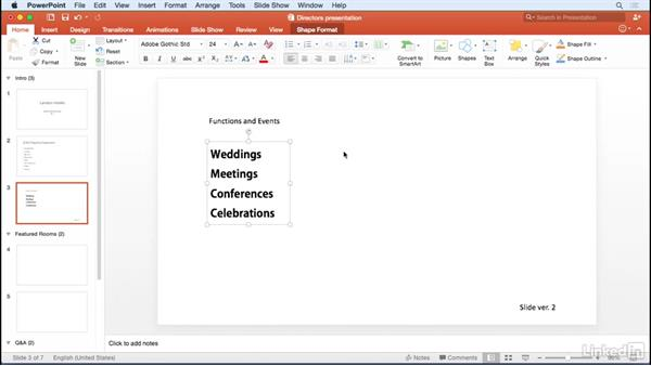 Formatting text: Office 365 for Mac: Learn PowerPoint