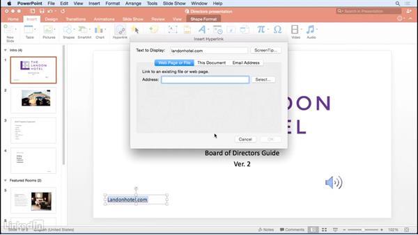 Adding hyperlinks: Office 365 for Mac: Learn PowerPoint