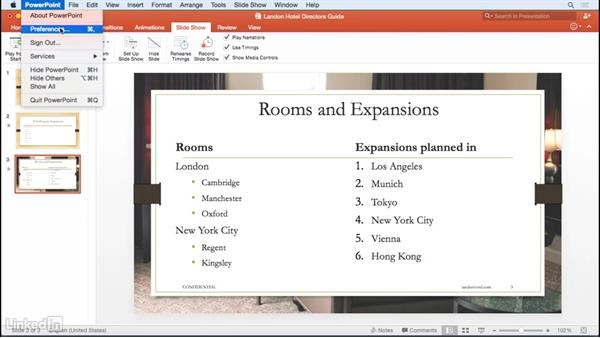 Presenting and navigating your slide deck: Office 365 for Mac: Learn PowerPoint