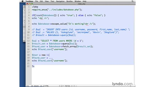 Creating a User class: PHP with MySQL Beyond the Basics