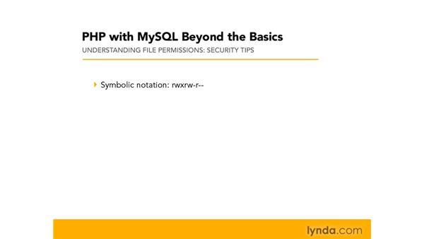 Understanding file permissions: PHP with MySQL Beyond the Basics