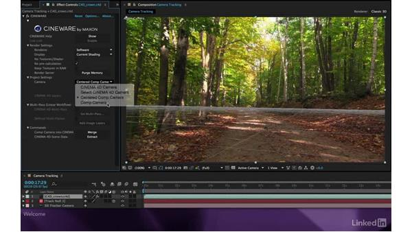 Welcome: After Effects Apprentice 19: Motion Tracking with CINEMA 4D Lite