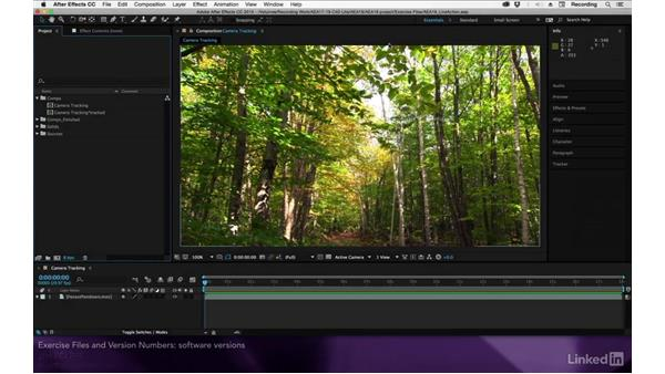 Exercise files and software versions: After Effects Apprentice 19: Motion Tracking with CINEMA 4D Lite