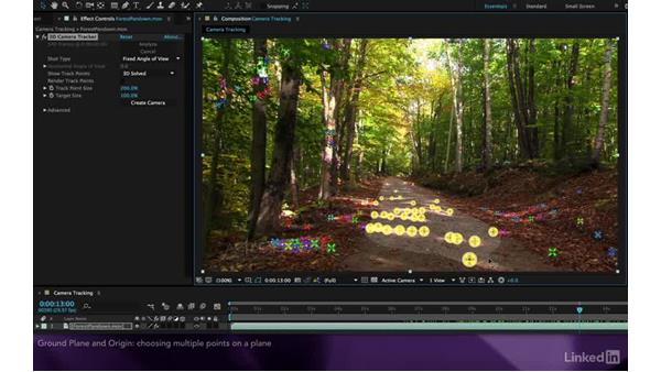 Setting the ground plane and origin: After Effects Apprentice 19: Motion Tracking with CINEMA 4D Lite