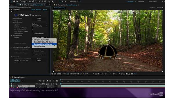 Importing a 3D model: After Effects Apprentice 19: Motion Tracking with CINEMA 4D Lite